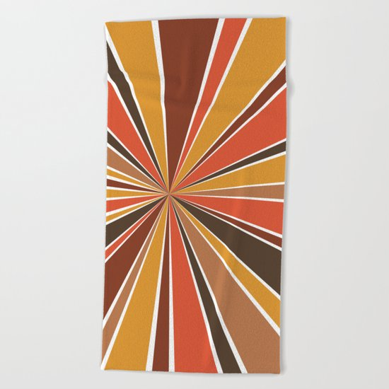70's Star Burst Beach Towel