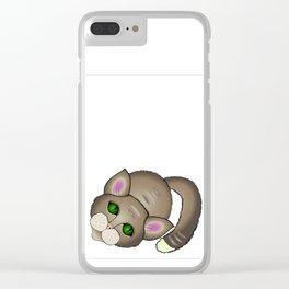Sad cat Clear iPhone Case