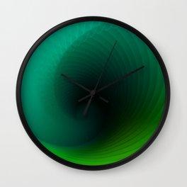 """""""Wave surf"""" geometric blue minimal gradient Wall Clock"""
