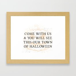 Our Town of Halloween Framed Art Print