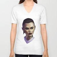 mass effect V-neck T-shirts featuring Mass Effect: Jack by Ruthie Hammerschlag