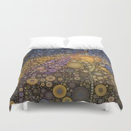 Deep Roots Abstract Duvet Cover