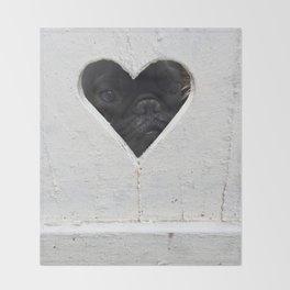 Peeking into your heart Throw Blanket