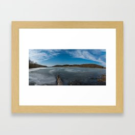Keystone State Park - Frozen Lake Framed Art Print