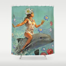 Freedom Lies in being Bold Shower Curtain