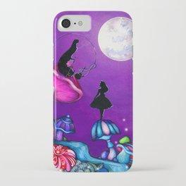 Alice in Wonderland and Caterpillar iPhone Case