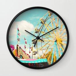 summer carnival fun Wall Clock