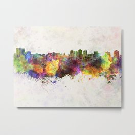 Halifax skyline in watercolor background Metal Print