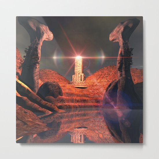 Mystical fantasy world Metal Print