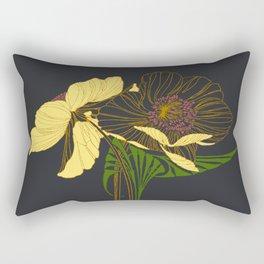Art Nouveau Poppy Duet by Seasons K Designs Rectangular Pillow