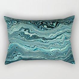 Emerald Agate Geode slice Rectangular Pillow