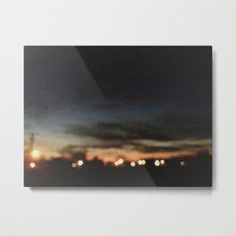Lights on the Horizon Metal Print