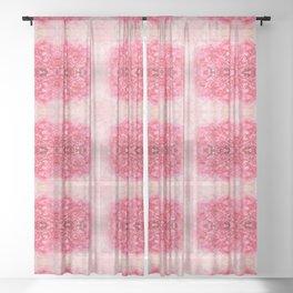 Pink bloom Sheer Curtain