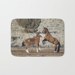 Bachelor Stallions Practicing the Art of Fighting, No. 1 Bath Mat