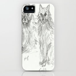 Hugo and Fluffy iPhone Case