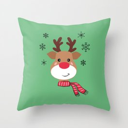 Rudolph the Reindeer - X-Mas Throw Pillow
