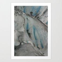 Blue Glacier Ice Art Print