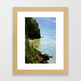 Lions Head Kayakers Framed Art Print