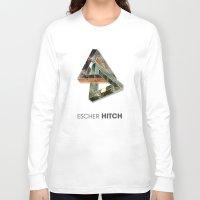 escher Long Sleeve T-shirts featuring escher hitch by Vin Zzep