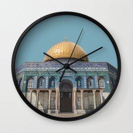 Dome of the Rock, Jerusalem Travel Artwork Wall Clock