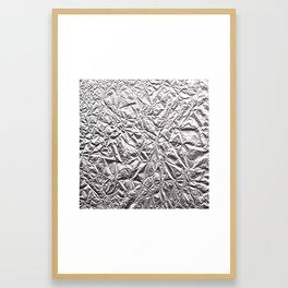 Silver Paper Framed Art Print
