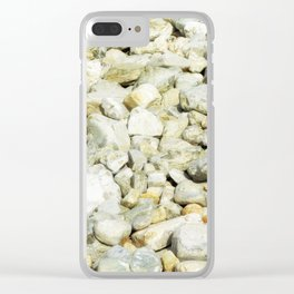 stone texture Clear iPhone Case