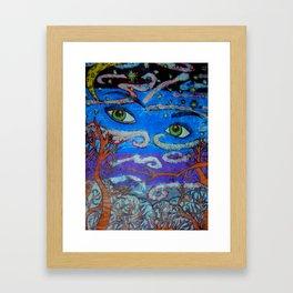 Sky Eyes Framed Art Print