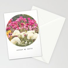 Colour My World Stationery Cards