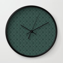 Blue Forest Wall with Navy Ovals Wall Clock