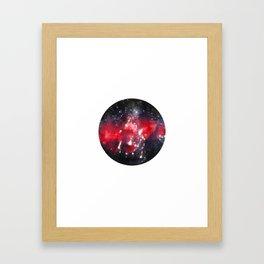 geometric galaxy Framed Art Print
