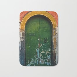 Magic Green Door in Sicily Bath Mat