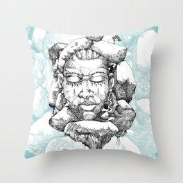 Stone Head of Abeokuta Throw Pillow
