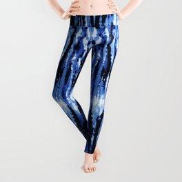 Blue Shibori Z Leggings