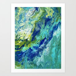 Bubbling Brook Art Print