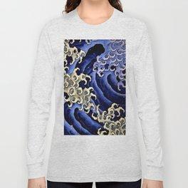 """Hokusai (1760–1849) """"Masculine wave"""" Long Sleeve T-shirt"""