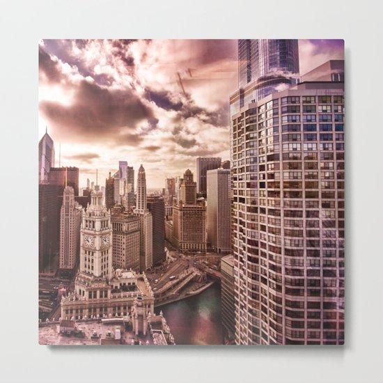 Window over Chicago Metal Print