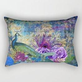 The Royal Peacock Rectangular Pillow