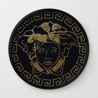 versace Wall Clocks featuring Versace Gold by InteriorEpiphanies