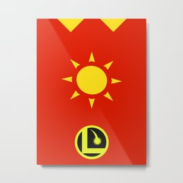 Minimalist Legion of Super-Heroes Poster - Sun Boy Metal Print
