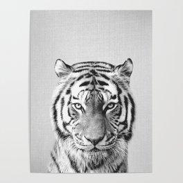 Tiger - Black & White Poster