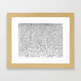 Hug Framed Art Print