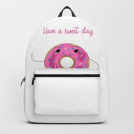 Pink Doughnut Pun Cartoon Backpack