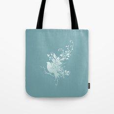 Flower Bird Tote Bag