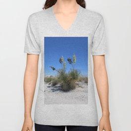 White Sands Dune With Soap Yucca Unisex V-Neck