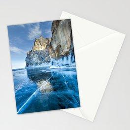 Blue Ice of the Lake Baikal Stationery Cards
