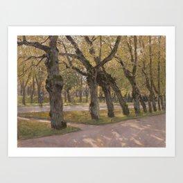 Autumn lime-trees. Pavlovsk. Art Print
