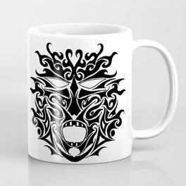 Dark Tribal Tattoo Mask Coffee Mug