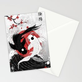 Koi fish - Yin Yang Stationery Cards
