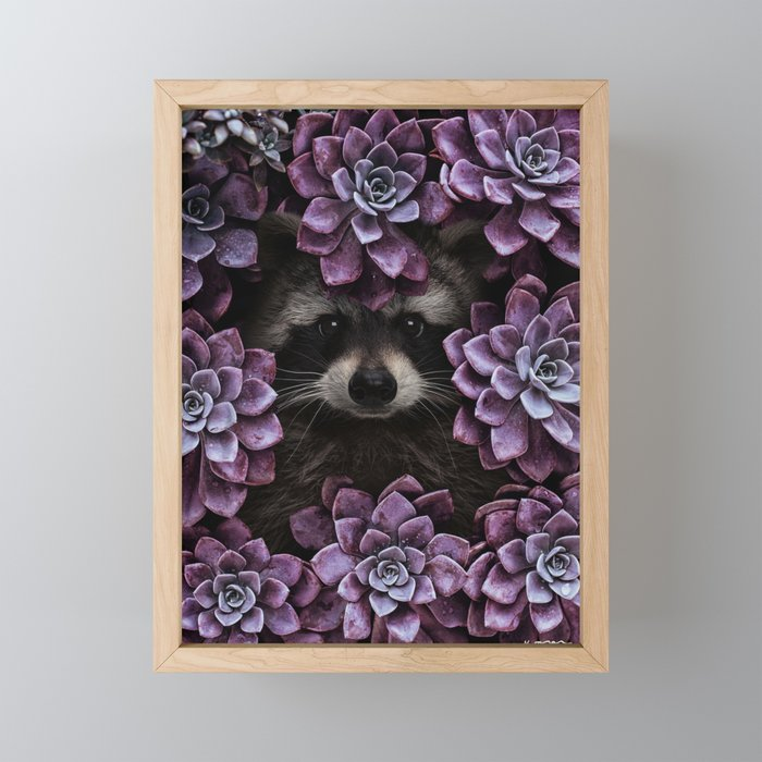 everything is magnified when you live from day to day. Framed Mini Art Print