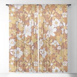 Blooming Seventies Sheer Curtain